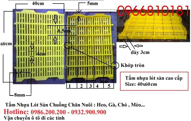 HCM-VT : Bán tấm nhựa lót sàn chuồng chó, mèo, heo, dê - 0986200200 - 4